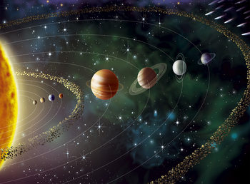 Carta da parati L'Universo - planets