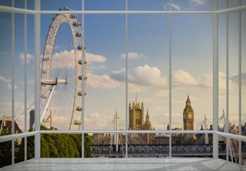 Carta da parati Londra - finestra