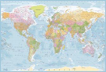 Carta da parati Mappa del Mondo - politica