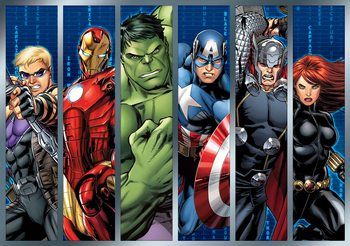 Carta da parati Marvel Avengers - I Vendicatori