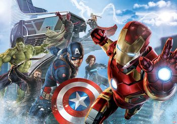 Carta da parati Marvel Team Avengers - I Vendicatori Squadra