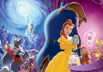 Carta da parati Principessa Disney Belle la Bella e La Bestia