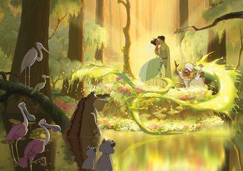 Carta da parati Principessa Disney Tiana Frog Kiss