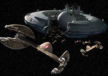Carta da parati Star Wars Droid Controlla la nave Lucrehulk