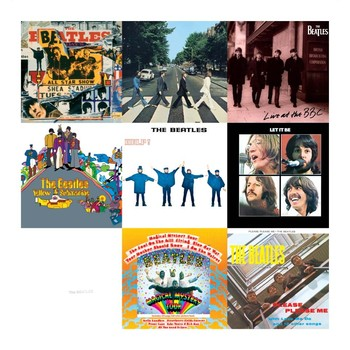Cartelli Pubblicitari in Metallo BEATLES COLLAGE 1