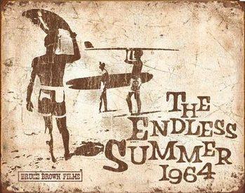 Cartelli Pubblicitari in Metallo Endless Summer Retro