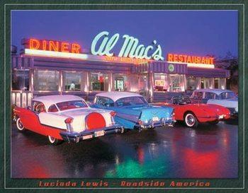 Cartelli Pubblicitari in Metallo Lewis - Al Mac Diner