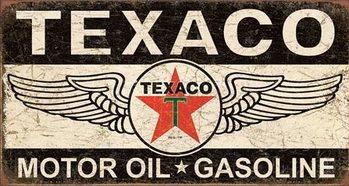 Cartelli Pubblicitari in Metallo Texaco Winged Logo