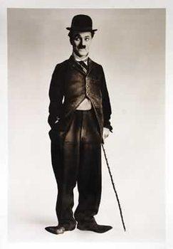 Charlie Chaplin - b&w Walking Stick - плакат (poster)