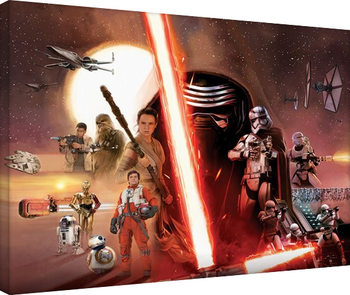 Vászon Plakát Csillagok háborúja VII (Star Wars: Az ébredő Erő) - Galaxy