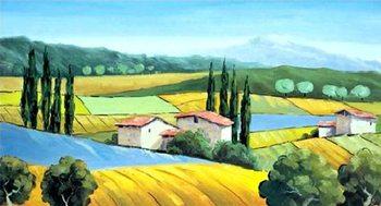Cypresses on The Hill Festmény reprodukció