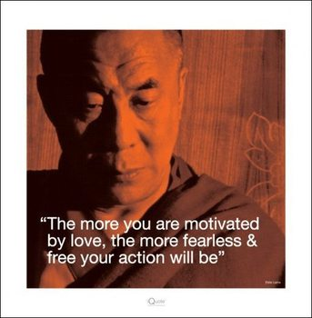 Dalai Lama - Quote Festmény reprodukció
