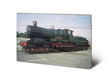 Bild auf Holz Dampflokomotive - City of Truro