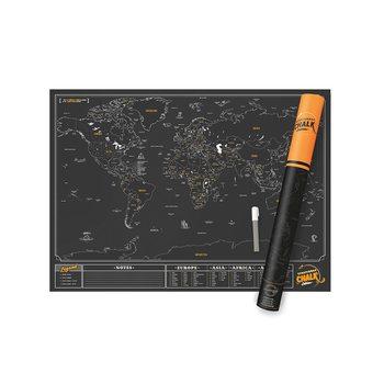 Stírací mapa World Chalk Edition