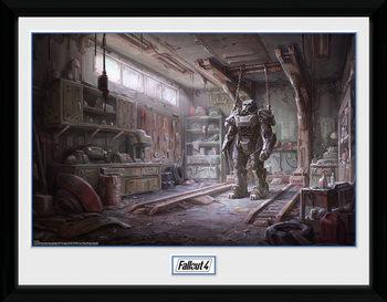 Fallout 4 - Red Rocket Interior üveg keretes plakát