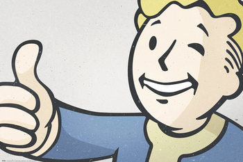 Fallout 4 - Vault Boy - плакат (poster)