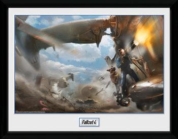 Fallout 4 - Virtibird Door Gunner üveg keretes plakát