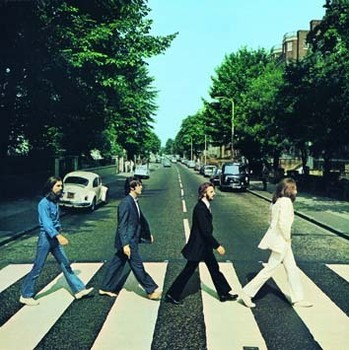 ABBEY ROAD ALBUM COVER fémplakát