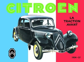 CITROËN TRACTION AVANT fémplakát