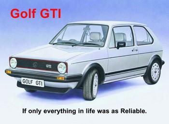 VW GOLF GTI fémplakát