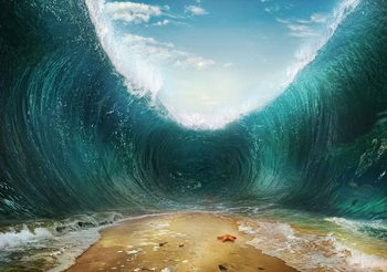 Beach Waves Sea Fotobehang