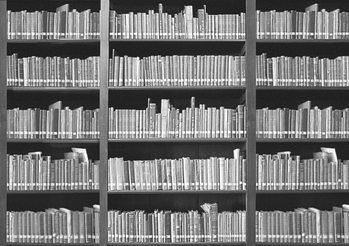 Boekenplank Fotobehang