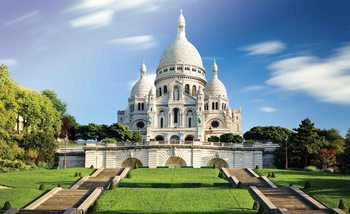 City Basilica Sacred Heart Paris Fotobehang