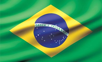Flag Brasil Fotobehang