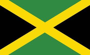 Flag Jamaica Fotobehang