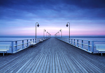 Pier at the Seaside Fotobehang
