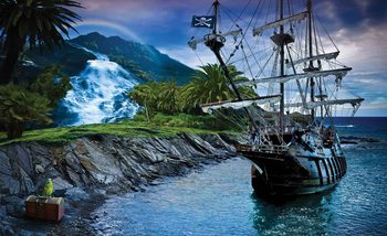 Pirate Sailing Ship Fotobehang