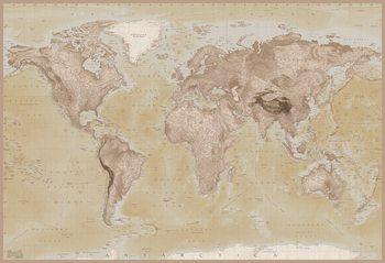 Wereldkaart - Wandkaart Fotobehang