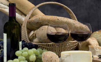 Wine And Bread Fotobehang