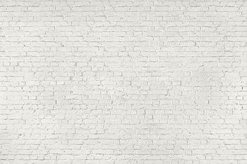 Witte bakstenen muren Fotobehang