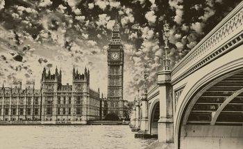 Fotomurale Casas de la Ciudad del Parlamento