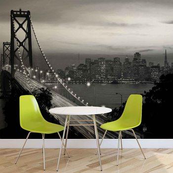 Fotomurale City Skyline Golden Gate Bridge