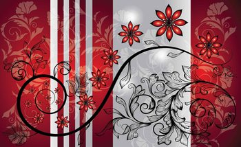 Fotomurale Flowers Floral Pattern