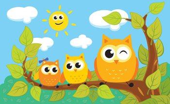 Fotomurale Owls Tree