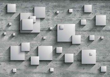 Fotomurale Resumen Moderno Plata Gris