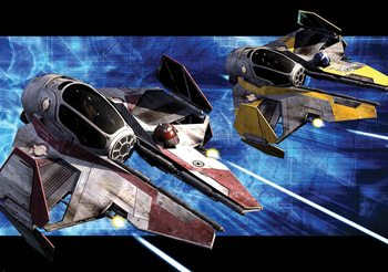 Fotomurale Star Wars Obi Anakin Jedi Starfighters