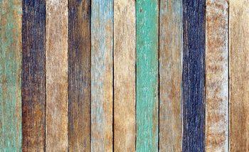 Fotomurale Tablones de la cerca de madera