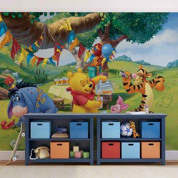 Disney Winnie Pooh Piglet Tigger Eeyore Fototapet