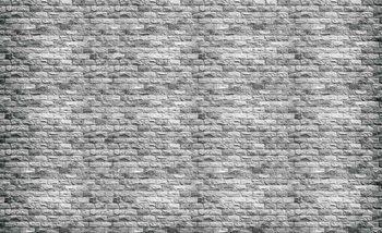 Gray Brick Wall Fototapet