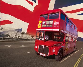 London - Red Bus Fototapet