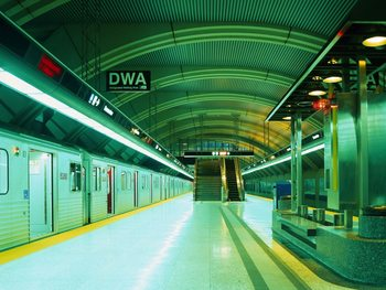 Underground Subway Fototapet