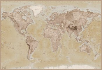 Världskarta Fototapet
