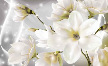 White Flowers Fototapet