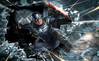 Avengers Captain America Fali tapéta