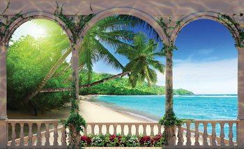Beach Tropical Fali tapéta