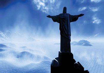 Christ Redeemer Rio Fali tapéta